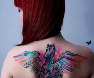 back, color, and tattoo image