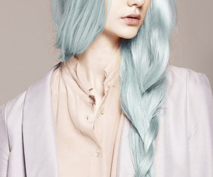 hair, blue, and model image