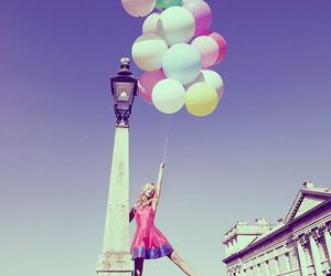 balloons, fashion, and model image