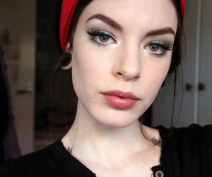 bandana, big lips, and girl image