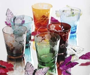 butterflies, colors, and glass image