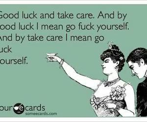 card, good luck, and take care image