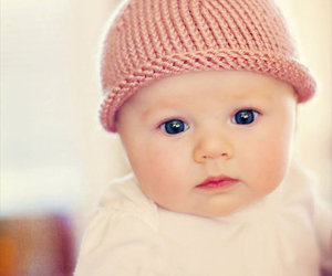 girl, pink, and hat image