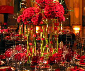 flowers, red, and wedding image