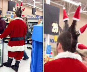 Mohawk, santa, and santa hat image