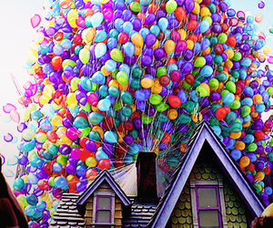 balloons, up, and disney image