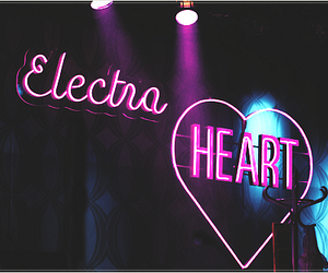 disco, light, and heart image