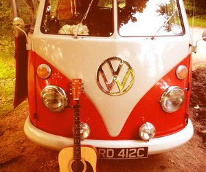 guitar, hippie, and vintage image