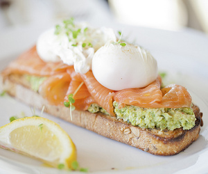 avocado, salmon, and smoked salmon image