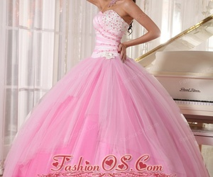 ball gown, pretty, and quinceanera dress image
