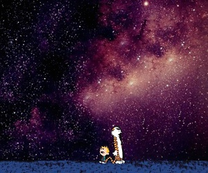 calvin and hobbes and stars image