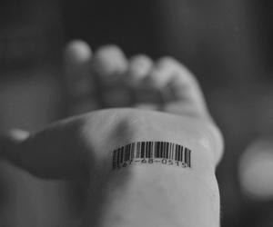 tattoo, hand, and barcode image