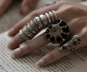 rings, ring, and hand image
