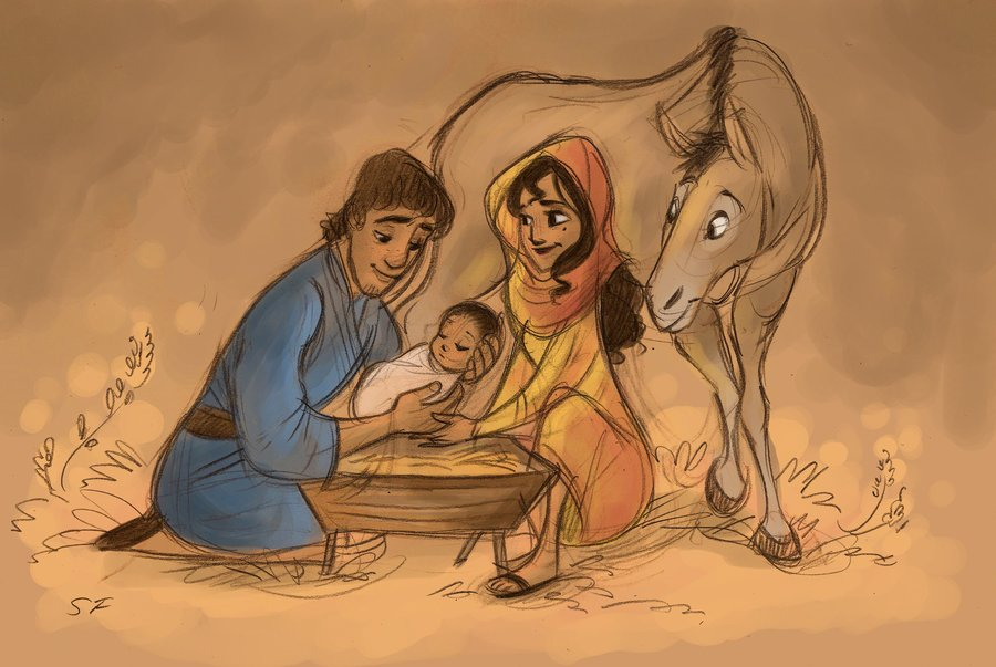 Christmas Jesus Birth Drawing.The Birth Of Jesus 3 By Willowwaves On Deviantart