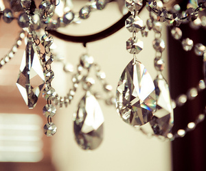 crystal, chandelier, and diamond image