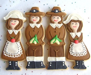 Cookies, pilgrims, and thanksgiving image