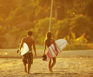 love, girl, and surf image