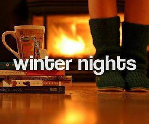 winter, night, and winter nights image