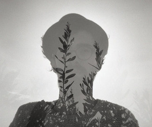 b&w, double exposure, and film image