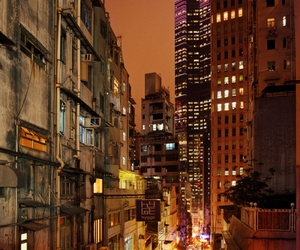 alley, city, and light image