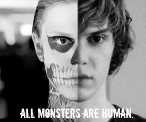 black and white, human, and monster image