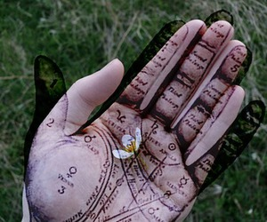 gypsy, palm, and palmistry image