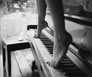 feed, girl, and piano image