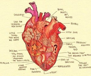 heart, art, and music image