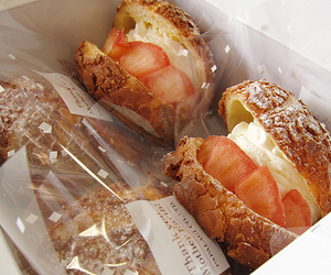 bakery, strawberries, and sugar image