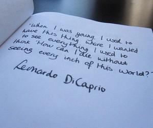 quote, leonardo dicaprio, and text image