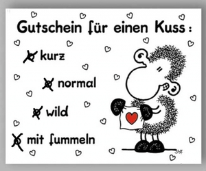 liebe, kuss, and sheepworld image