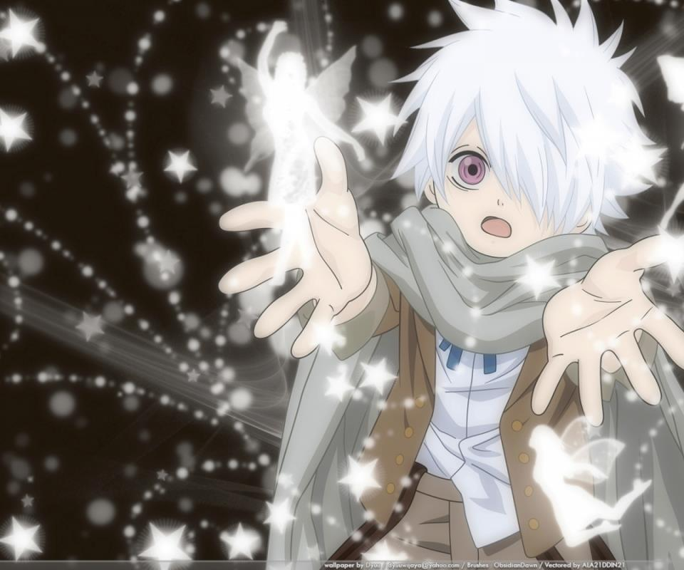 Baby Anime boy with white hair