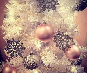 christmas, pink, and tree image