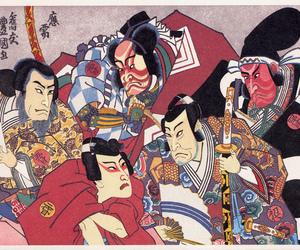 japan, kabuki, and ukiyoe image