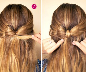bow, hair, and hairstyle image