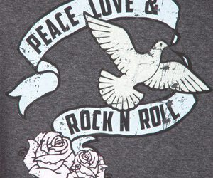love, peace, and rock n roll image