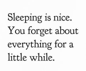 sleep, quotes, and forget image