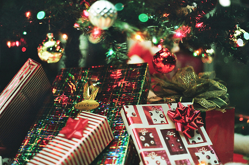 Image result for Christmas presents under the tree tumblr