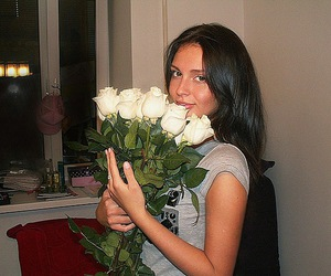 beautiful, kristina makienko, and white flowers image