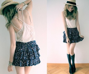 hat and skirt image