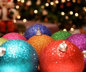 christmas, winter, and ball image