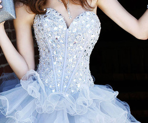 dress, pretty, and blue image