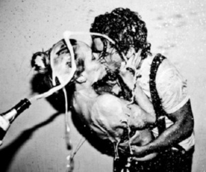 awesome, black and white, and champagne image