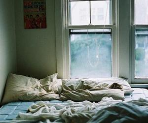 mess, window, and bedroom image