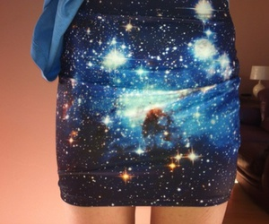 skirt, galaxy, and blue image