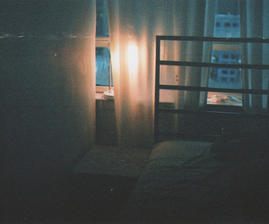 vintage, bed, and night image