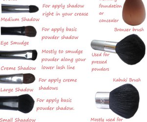 makeup, Brushes, and makeup brushes image