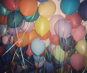 balloons, colorful, and tumblr image