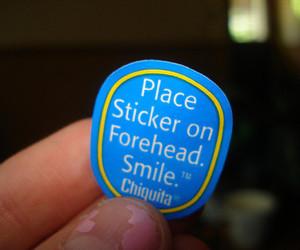 banana, sticker, and smile image