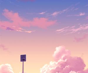 anime, art, and sky image
